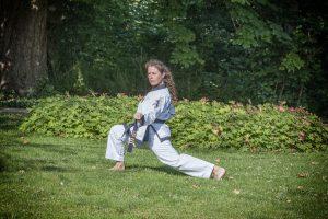 Linda Ploeg. Chung Shim Tang Soo Do sportschool Franeker Koreaans karate vechtsport zelfverdediging zelfvertrouwen ontwikkeling weerbaarheid